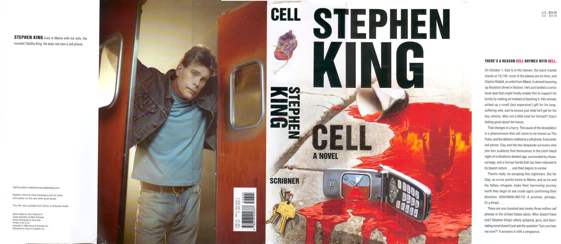 cell stephen king If the stretch of years between sept 11 and last fall's kashmir earthquake has reminded us of anything, it's that history can take a drastic turn in one day stephen king jumps into the middle of one such day on the opening pages of cell, his first full-length novel since he came off what.