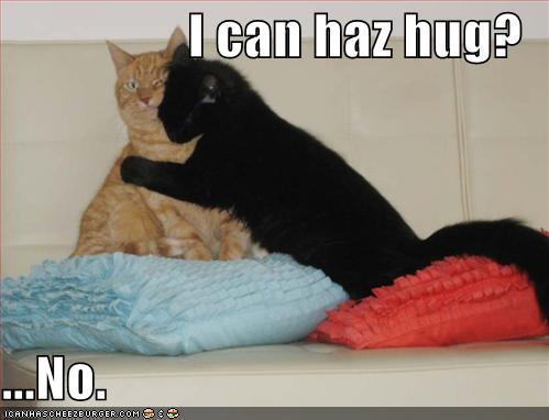 no hugs