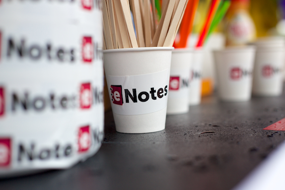 eNotes coffee cups