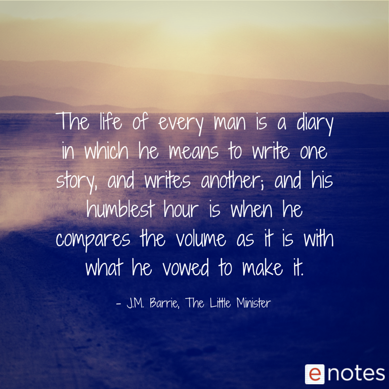 The Enotes Blog 8 Hauntingly Beautiful Jm Barrie Quotes