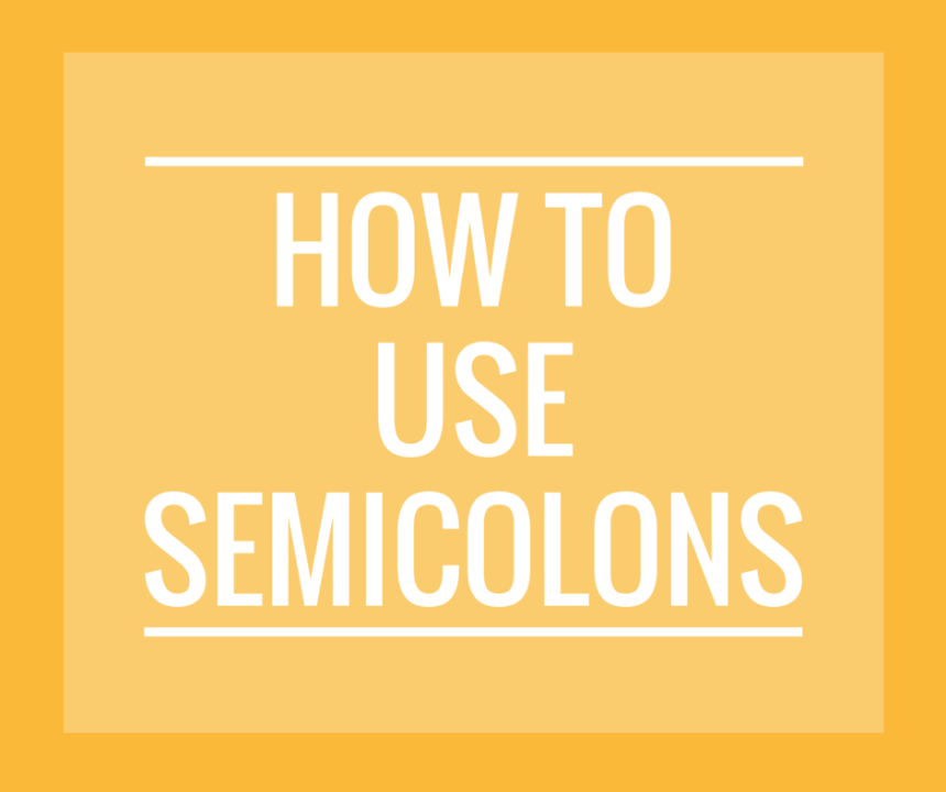 How to use a semicolon enotes