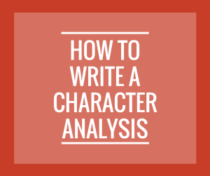 How to Write a Character Analysis w-o logo enotes
