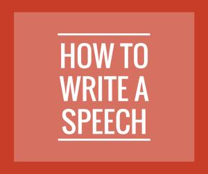 How to Write a Speech enotes