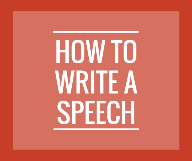 How to Write a Speech enotes