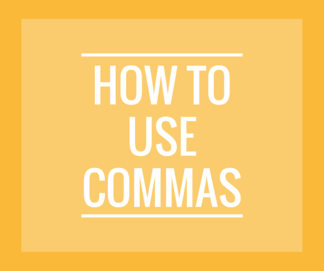 Use Commas w-o logo