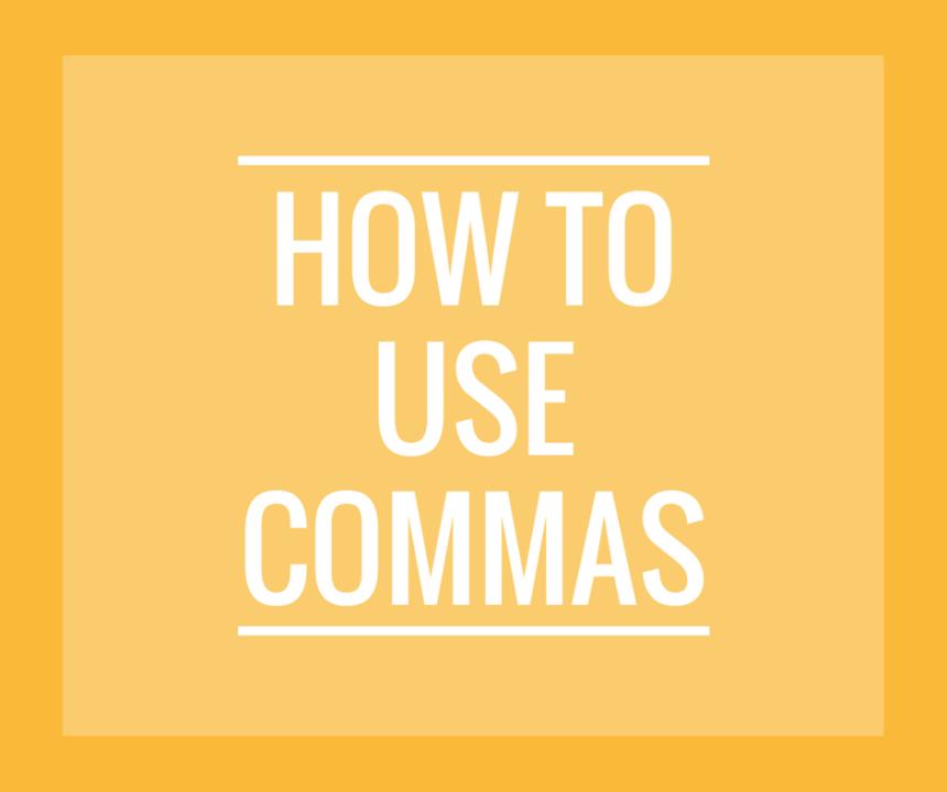 Use Commas w-o logo