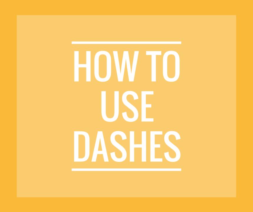 Use Dashes w-o logo