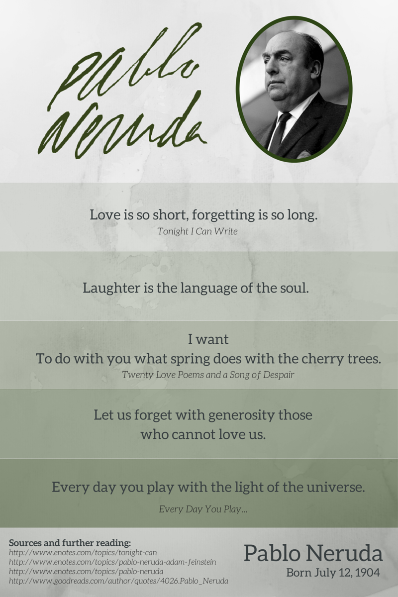 the enotes blog happy birthday pablo neruda quotes about life